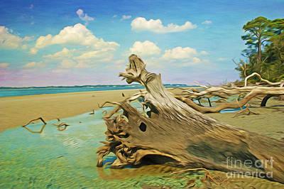 Driftwood Wall Art - Photograph - Driftwood Sculptures by Laura D Young