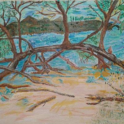 Abstact Landscapes Painting - Driftwood Tide by Elizabeth Chapman