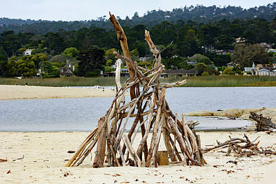 Photograph - Driftwood Tipi With A View by Susan Wiedmann