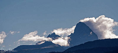 Mountainous Mixed Media - Drigg's View - Tetons - Signed Limited Edition by Steve Ohlsen