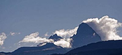 Mountainous Mixed Media - Drigg's View - Tetons by Steve Ohlsen
