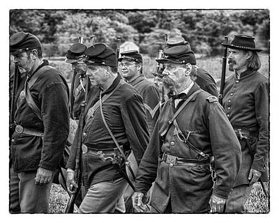 Marvelous Marble Rights Managed Images - Drill at Gettysburg Royalty-Free Image by Hugh Smith