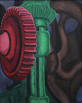 Painting - Drill Press by Paul Amaranto