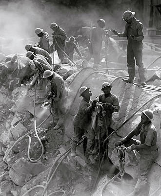 Tva Photograph - Drillers Ft. Louden Dam - Tennessee Valley Authority  1942 by Daniel Hagerman