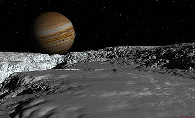 Digital Art - Drilling On Europa by David Robinson