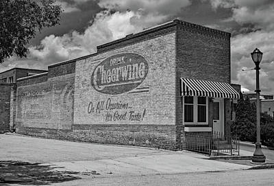 Photograph - Drink Cheerwine Bw 10 by Joseph C Hinson Photography