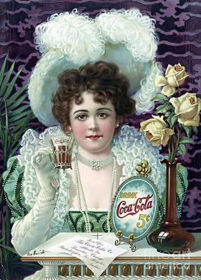 Drink Coca-cola, 1890s Art Print