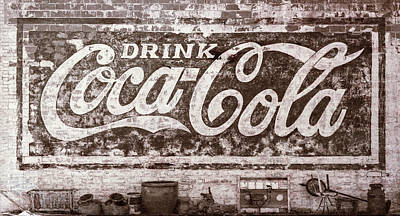 Old Coke Sign Wall Art - Photograph - Drink Coca-cola #2 by Stephen Stookey
