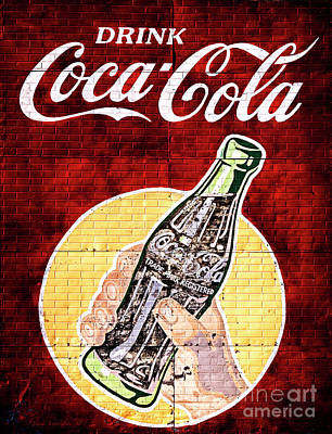 Photograph - Vintage Drink Coca Cola Tin Sign by John Stephens