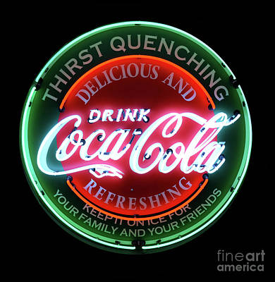 Photograph - Drink Coca-cola Neon Sign by Bob Christopher