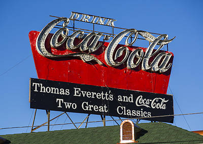 Coca-cola Sign Photograph - Drink Coca-cola by Stephen Stookey
