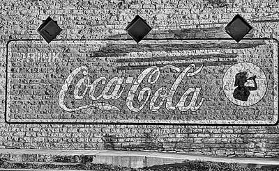 Photograph - Drink Coke Hico Texas Black And White by JC Findley
