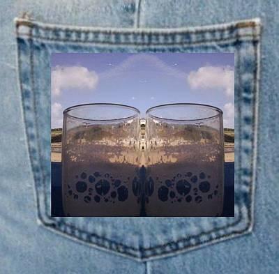 Photograph - Drink Glass Art On Pocket by Julia Woodman