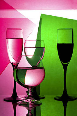 Wine Reflection Art Digital Art - Drink  In Wine Glasses by larisa Fedotova