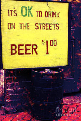 Drink On The Streets Art Print by John Rizzuto