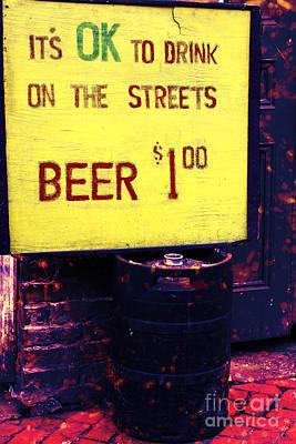 French Street Scene Digital Art - Drink On The Streets by John Rizzuto
