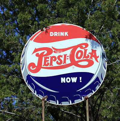 Photograph - Drink Pepsi - Cola Now  by Allen Beatty