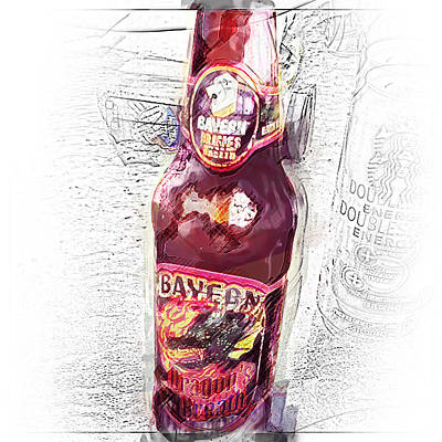 Beer Photograph - Drink The Dragon by Felicity McNelley