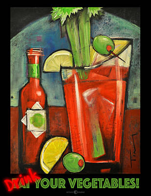Bloody Mary Digital Art - Drink Your Vegetables Poster by Tim Nyberg