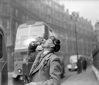 Drinking Beer Print by John Drysdale