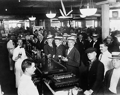 Photograph - Drinking Before Wartime Prohibition - Nyc - June 30, 1919 by War Is Hell Store