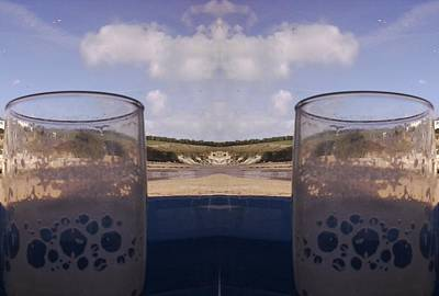 Photograph - Drinks By The Beach Fractal Photo by Julia Woodman