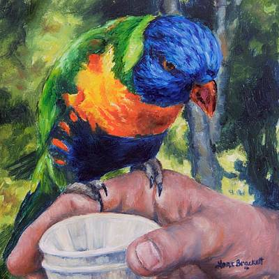 Painting - Drinks On Me by Lori Brackett