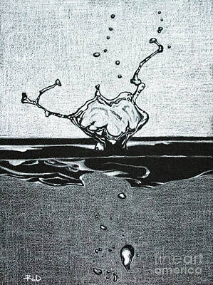 Drawing - Drip And Splash by Rebecca Davis