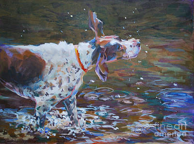 A Dog A Day Painting - Drip Dry by Kimberly Santini