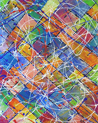 Painting - Dripped On Tiles by Jeremy Aiyadurai
