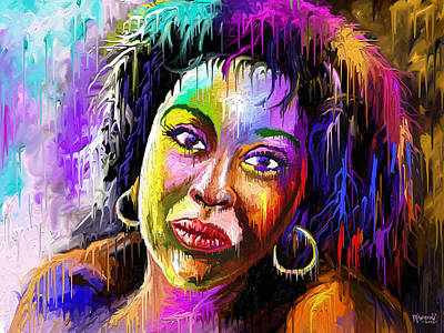 Painting - Melting Beauty by Anthony Mwangi