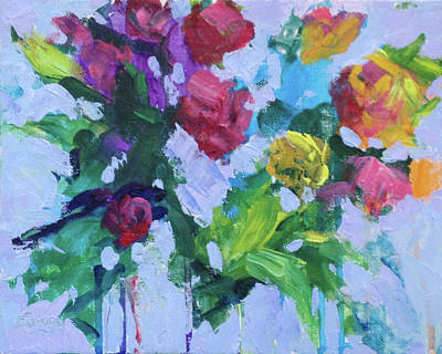 Painting - Dripping Flowers by Marsha Savage