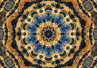 Digital Art - Dripping Gold Kaleidoscope by Max DeBeeson