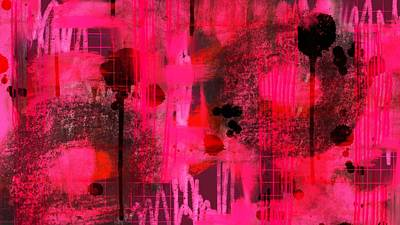 Digital Art - Dripping Pink by Lisa Noneman