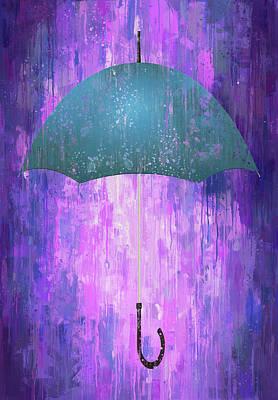 Digital Art - Dripping Poster Purple Rain by Yury Malkov