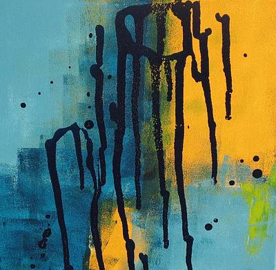 Drippy Painting - Drippy Abstract One by Louise Adams