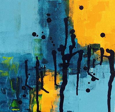 Drippy Painting - Drippy Abstract Two by Louise Adams
