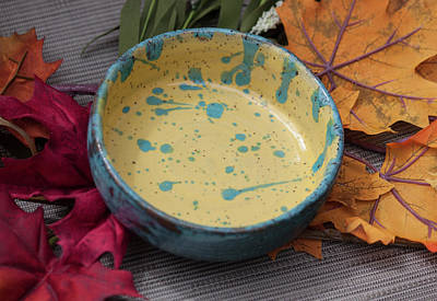 Ceramic Art - Drippy Cereal Bowl by Suzanne Gaff