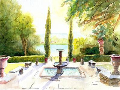 Painting - Driscoll Villa Laguna Gloria by Carlin Blahnik CarlinArtWatercolor