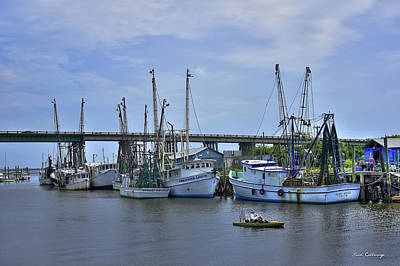 Photograph - Drive By Fishing Tybee Island Shrimp Boats U. S. Route 80 Art by Reid Callaway
