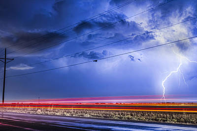James Insogna Photograph - Drive By Lightning Strike by James BO  Insogna