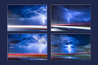 Photograph - Drive By Lightning Strikes Progression by James BO  Insogna
