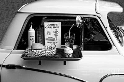 Photograph - Drive-in Black And White by Doc Braham