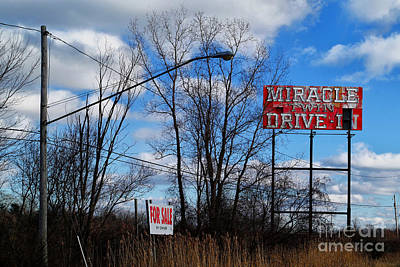 Drive-in For Sale Art Print by Jeff Holbrook