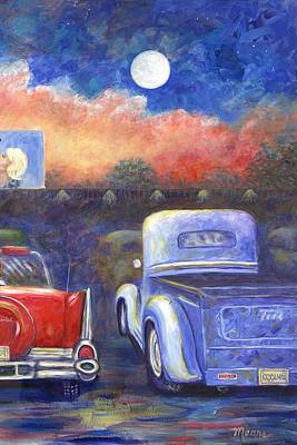 Truck Painting - Drive-in Movie Part Two by Linda Mears
