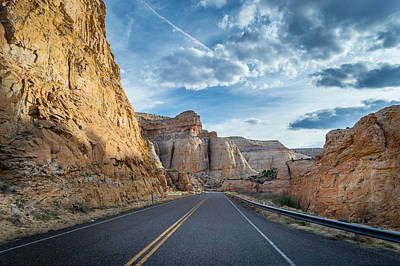 Autumn Photograph - Drive Into Capitol Reef National Park by Michael J Bauer