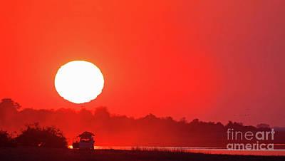 Photograph - Drive Into Sunset, Africa, Botswana by Wibke W