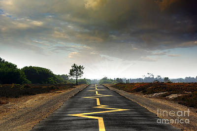 Asphalt Photograph - Drive Safely by Carlos Caetano