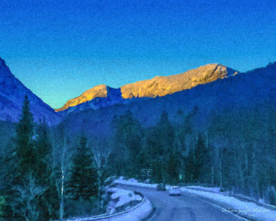 New Hampshire Artist Painting - Drive Through Franconia Notch by Bill McEntee