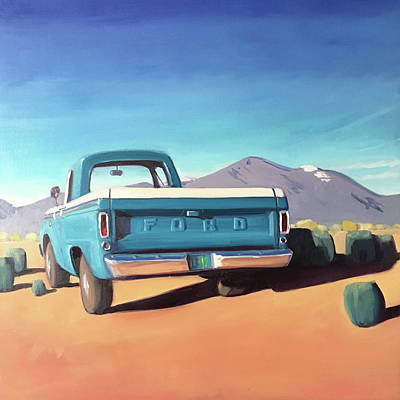Painting - Drive Through The Sagebrush by Elizabeth Jose